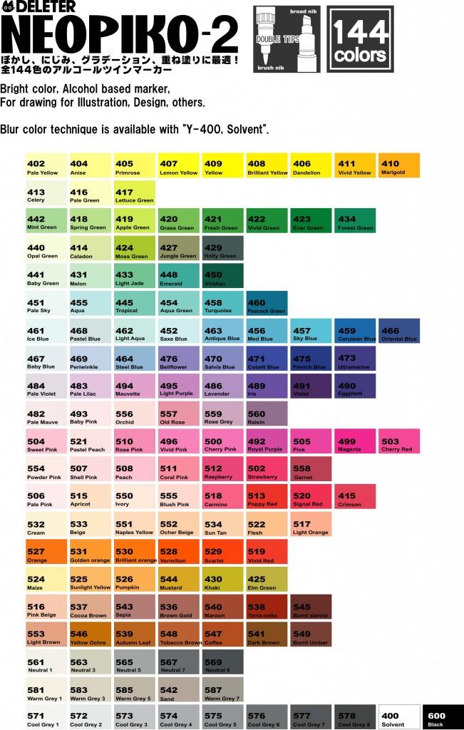 144 couleurs !