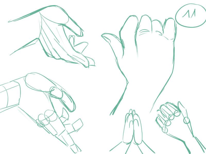 30 jours pour dessiner des mains le mangakoaching par manga ink - Dessin de mains ...