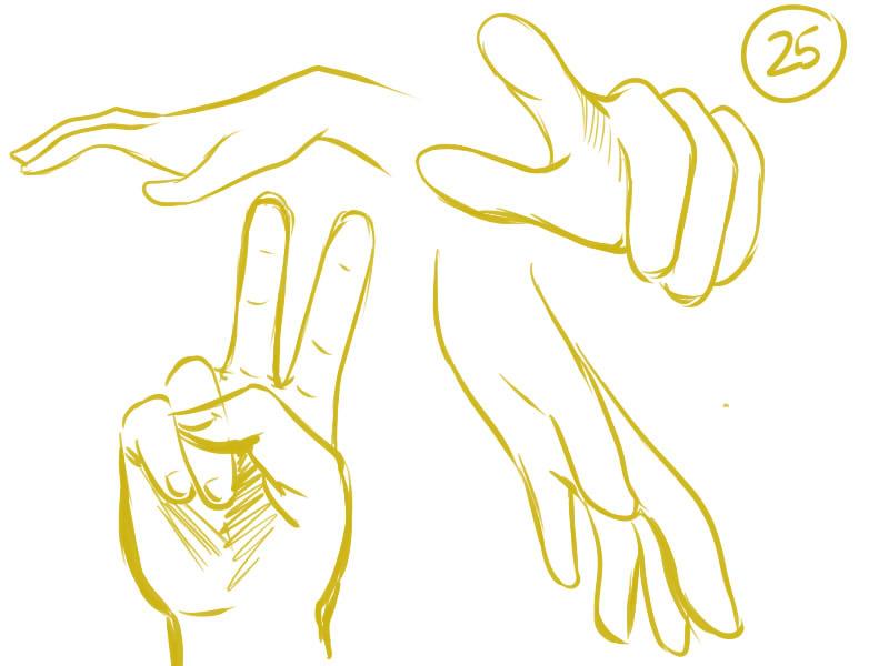 dessin manga main