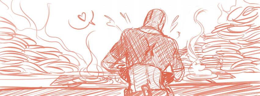 Exemple : Deadpool fait des pancakes...