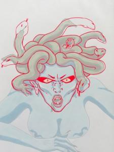 cheveux medusa