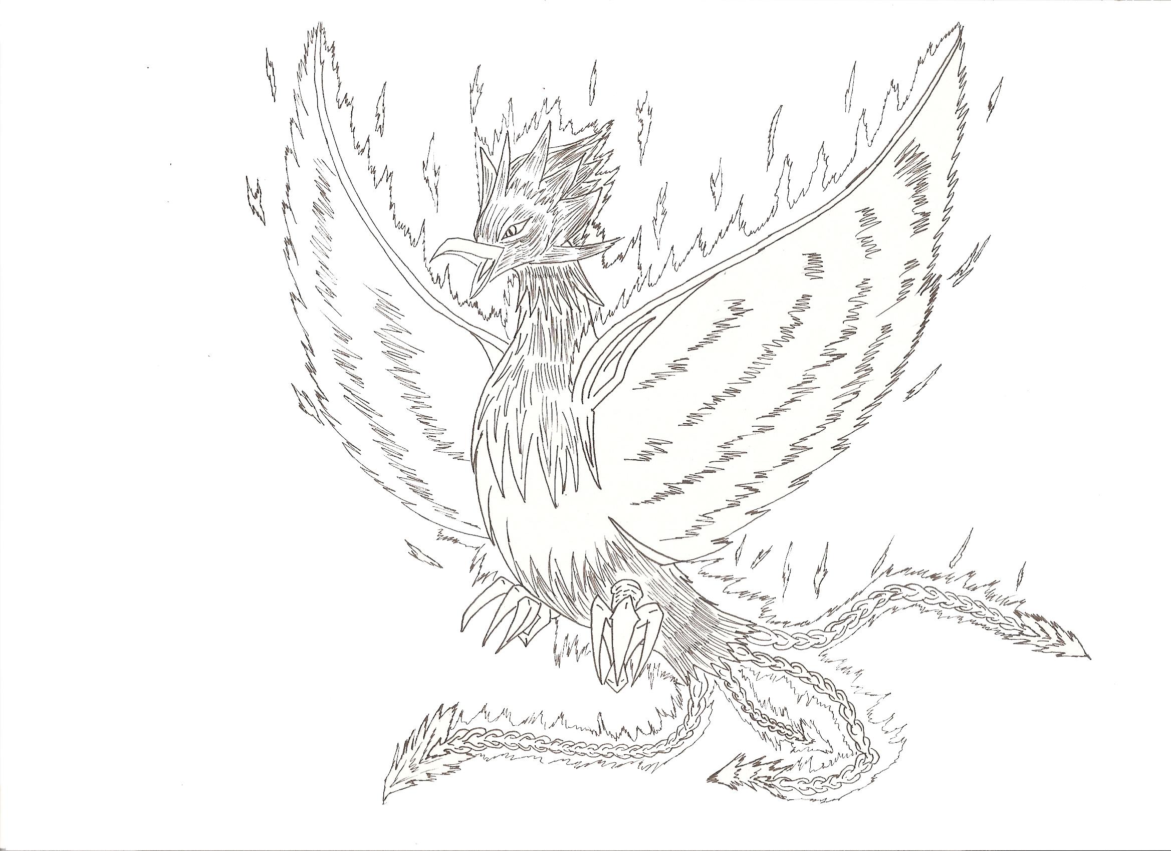 dessin manga oiseau