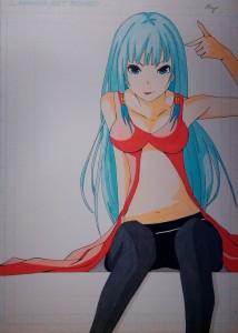 """Essai d'une colo d'un nouveau personnage """"Ayane Kitahara"""""""