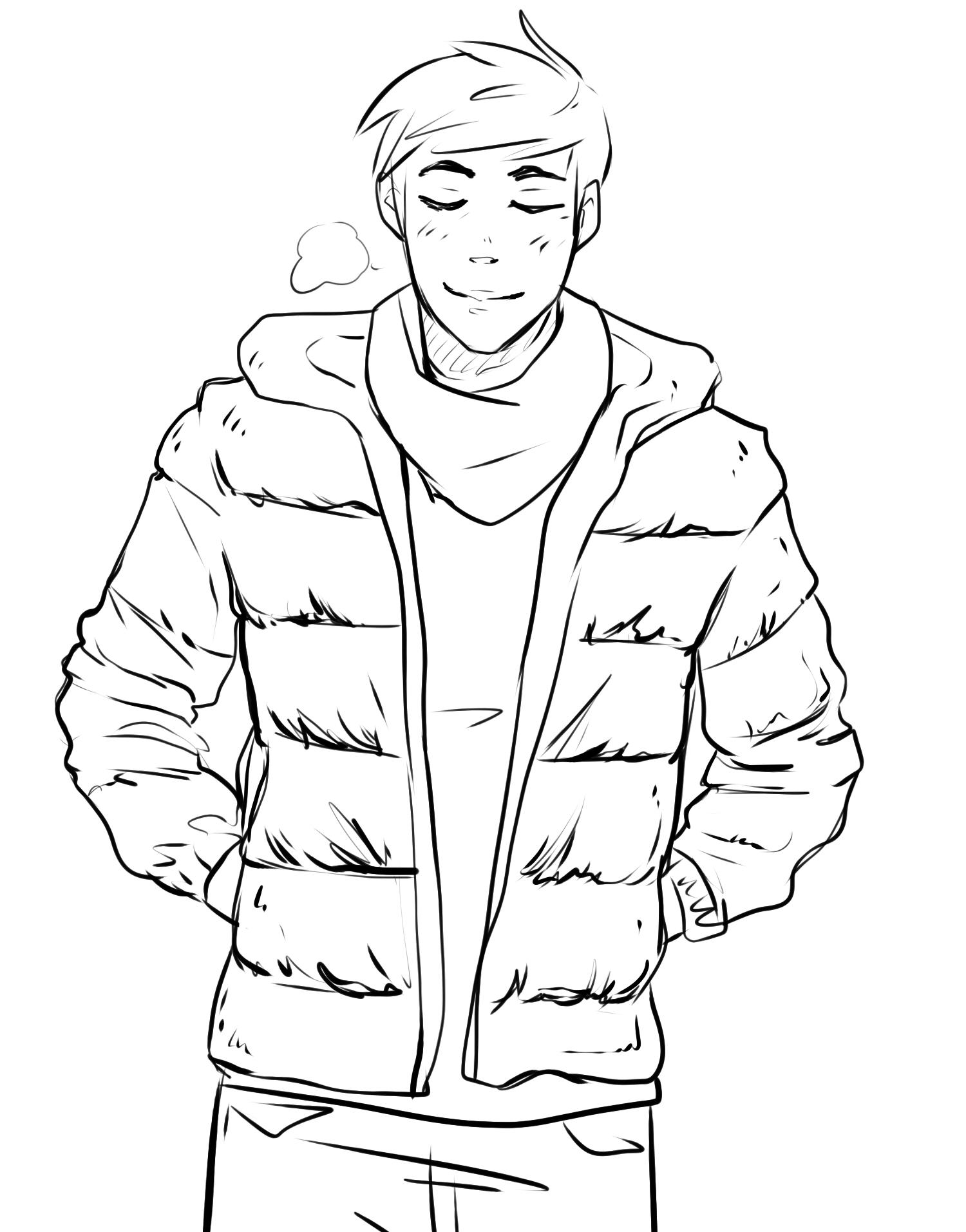 Critique de yume 14 bien au chaud dans sa doudoune - Dessin de manteau ...