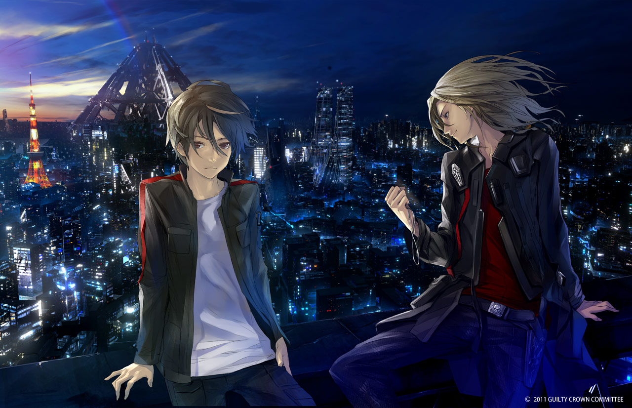 "Il s'agit d'une illustration officielle pour l'anime ""Guilty Crown"""