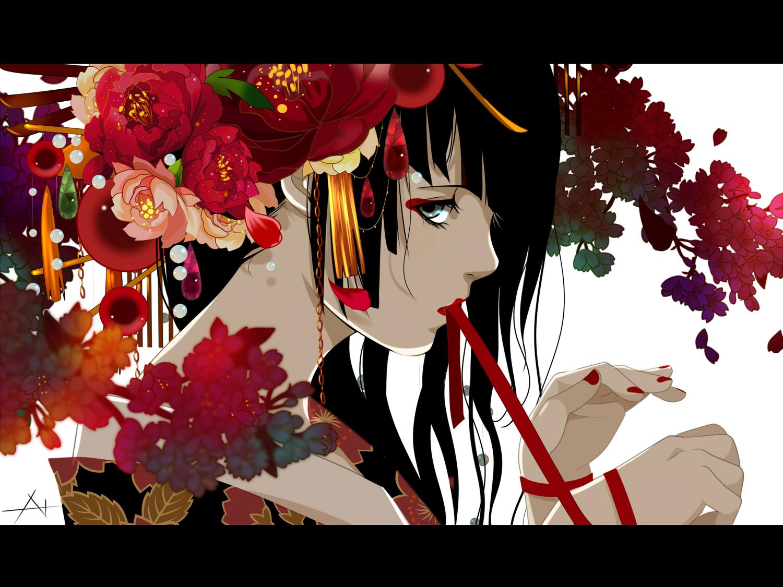 Illustration de 七原しえ basé sur le thème du Hana Matsuri http://www.pixiv.net/member.php?id=114086